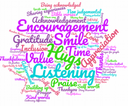 Encouragement Discussion Wordcloud